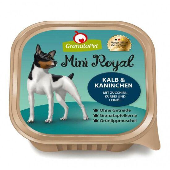 GranataPet Mini Royal  borjú és nyúl cukkinivel,sütőtökkel és lenolajjal