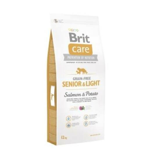 Brit Care Grain-free Senior and light Salmon & Potato 12 kg 2db