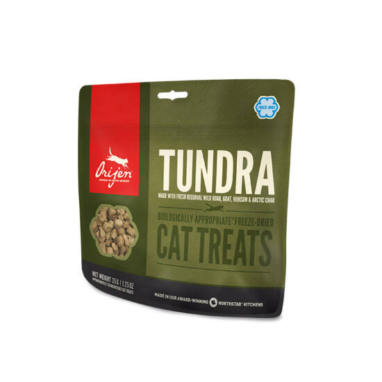 ORIJEN FREEZE DRIED jutalomfalatok Tundra Cat 0,035kg
