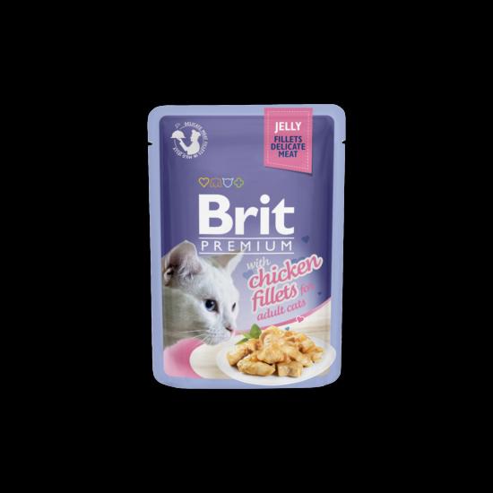 Brit Premium Cat tasakos Delicate Fillets in Jelly with Chicken 85g