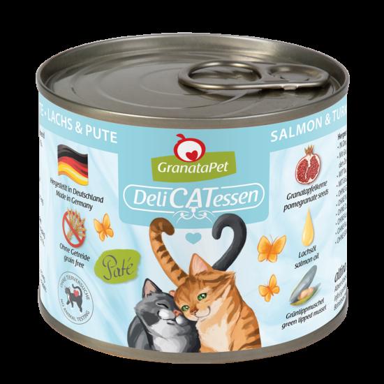 GranataPet Katze - Delicatessen  lazac és pulyka konzerv