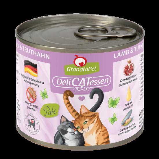 GranataPet Katze - Delicatessen bárány és pulyka konzerv
