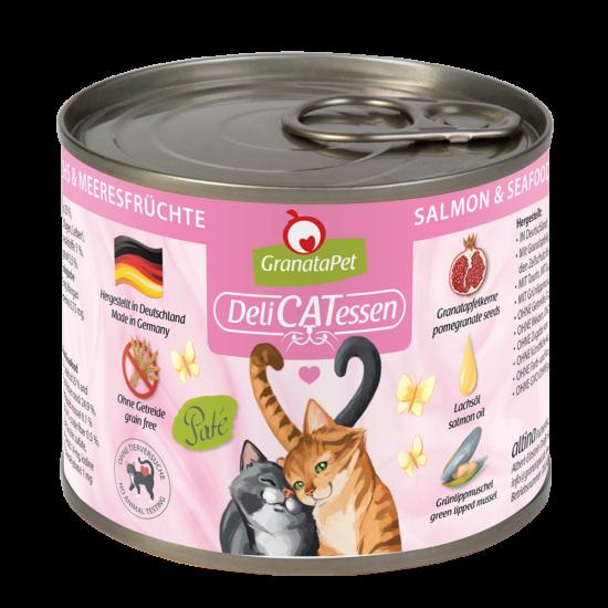GranataPet Katze - Delicatessen lazac és tengergyümölcsei