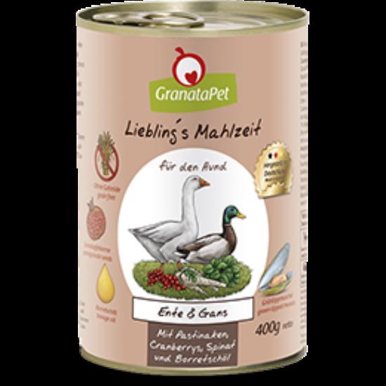 GranataPet Liebling's Mahlzeit  kacsa és liba konzerv petrezselyemmel,áfonyával és borágó olajjal