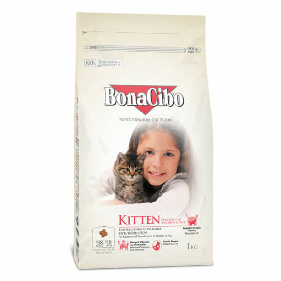 BONACIBO KITTEN (Chicken&Rice with Anchovy) 1 kg