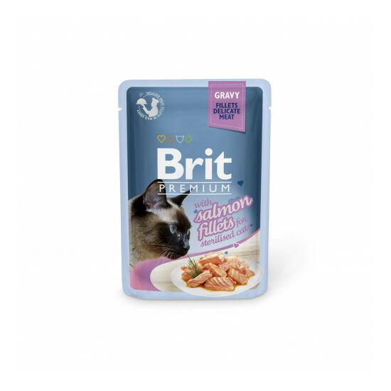 Brit Premium Cat tasakos Delicate Fillets in Gravy with Salmon for Sterilised 85g