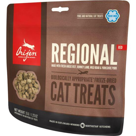ORIJEN FREEZE DRIED jutalomfalatok Regional Red Cat 0,035kg