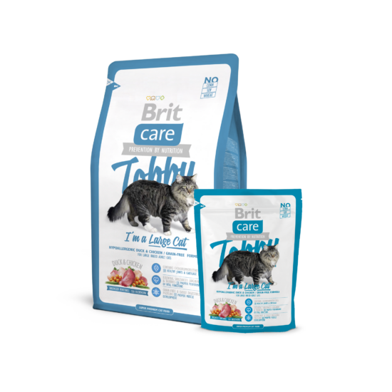 Brit Care Cat Tobby I´m a Large Cat 0,4Kg