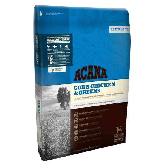 ACANA HERITAGE Cobb Chicken & Greens 11,4kg 2db