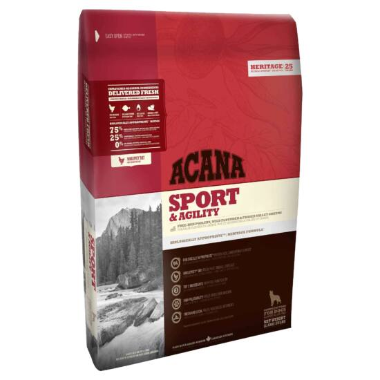 ACANA HERITAGE Sport & Agility 11,4kg 3db