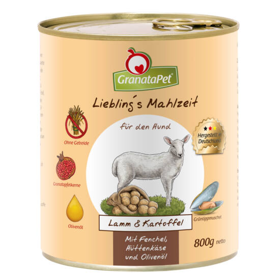 GranataPet Liebling´s Mahlzeit bárány és burgonya konzerv