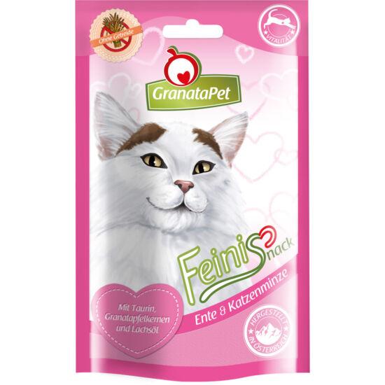 GranataPet Feinis Snack kacsa és macskamenta 50 g